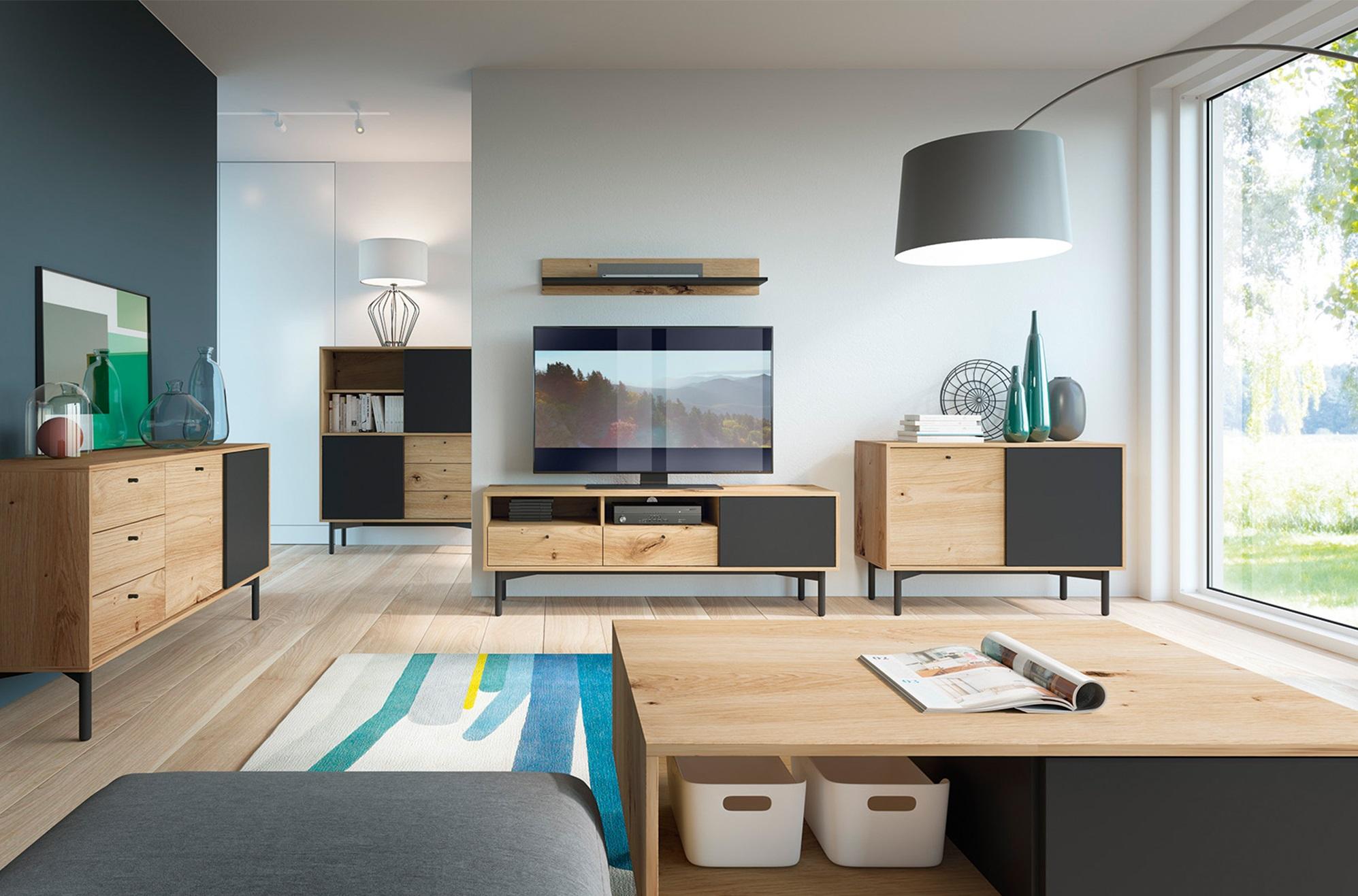 Moderní sestava do obývacího pokoje Flow 1 | MONTI nábytek